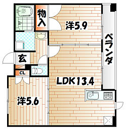 da Vinci V 〜ダ・ヴィンチ・ファイブ〜[4階]の間取り
