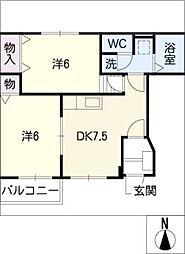 ガーデンスクエア佐藤A棟[1階]の間取り
