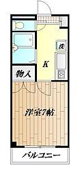 神奈川県横須賀市小矢部2丁目の賃貸マンションの間取り