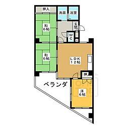日映マンションⅡ[6階]の間取り