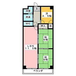 アラコハイツ[3階]の間取り