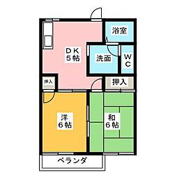 ジュネス喜多山[1階]の間取り