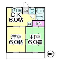 東京都足立区古千谷本町1丁目の賃貸アパートの間取り