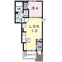 岡山電気軌道清輝橋線 東中央町駅 徒歩6分の賃貸アパート 1階1LDKの間取り