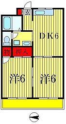 ロイヤルコーポ上之台[3階]の間取り