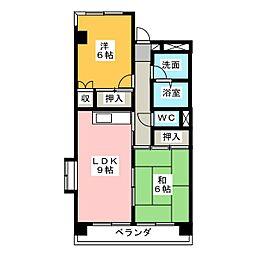 メゾンサンヒル[3階]の間取り
