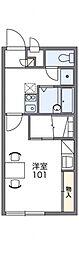 レオパレスOYUMI II[1階]の間取り