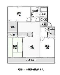 徳島県徳島市春日1丁目の賃貸マンションの間取り