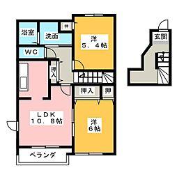 フィールド裕 B棟[2階]の間取り