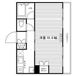 秋津学生マンション[1階]の間取り