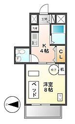 愛知県名古屋市千種区千種通6丁目の賃貸マンションの間取り