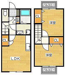 フォーサイト筑紫野Duplex[102号室]の間取り