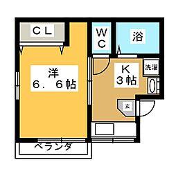 コーポユキ[2階]の間取り