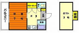 リーフ御島崎[2階]の間取り