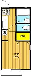 東京都足立区島根2丁目の賃貸アパートの間取り