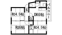 兵庫県伊丹市鴻池1丁目の賃貸マンションの間取り