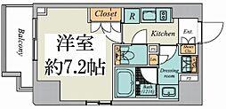 東京メトロ丸ノ内線 御茶ノ水駅 徒歩9分の賃貸マンション 2階1Kの間取り