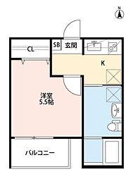 エル ソフィー[2階]の間取り