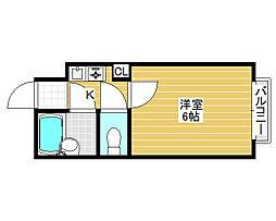 シャルマンフジ北花田[2階]の間取り