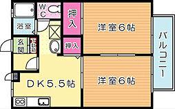 ウインドワードMIYAKI[103号室]の間取り