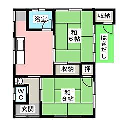 [一戸建] 静岡県焼津市焼津3丁目 の賃貸【/】の間取り