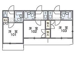 田隅[103号室]の間取り