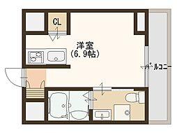 ウィズイン北花田[9階]の間取り