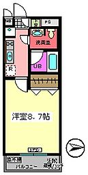 バレーヌ Y&K[203号室]の間取り