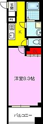 JPレジデンス京橋EAST 3階1Kの間取り