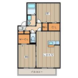 汲沢6丁目 ヴィラージュ203[2階]の間取り