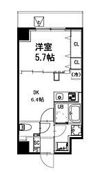 都営新宿線 曙橋駅 徒歩4分の賃貸マンション 3階1DKの間取り