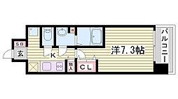 W-STYLE神戸II[1310号室]の間取り