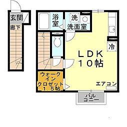 兵庫県姫路市別所町別所の賃貸アパートの間取り