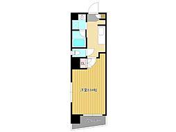 名古屋市営東山線 東山公園駅 徒歩4分の賃貸マンション 4階1Kの間取り