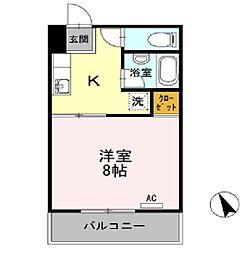 福徳コーポ[1階]の間取り