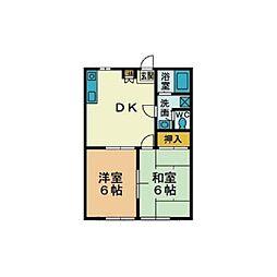 代田ハイツ[2階]の間取り