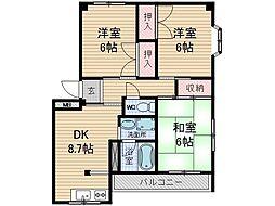 大翔ビル1号館[3階]の間取り