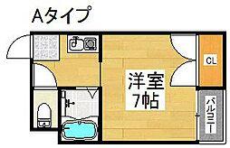 セラ北加賀屋B棟[4階]の間取り