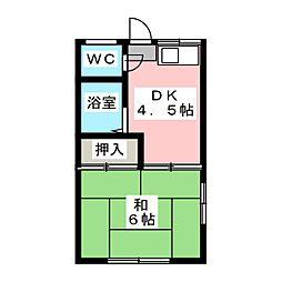 渡辺ハウス[2階]の間取り