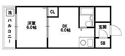 ライオンズマンション新大阪[5階]の間取り