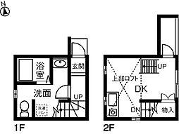 名古屋市営桜通線 鶴里駅 徒歩9分の賃貸テラスハウス 1階ワンルームの間取り