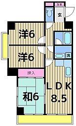 メゾン・モア・トゥール33[3階]の間取り