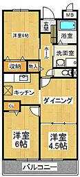 ライジングパレス[2階]の間取り