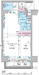 JR総武線 浅草橋駅 徒歩5分の賃貸マンション 9階1LDKの間取り