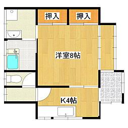 [一戸建] 千葉県成田市三里塚 の賃貸【/】の間取り