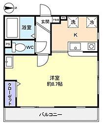 ミリアビタNO.8[2階]の間取り