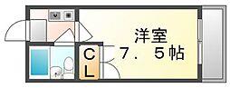 香川県高松市花園町1丁目の賃貸アパートの間取り