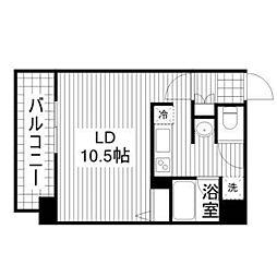レフィナードCタイプ[4階]の間取り
