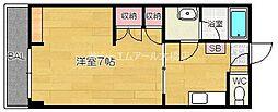 ドルフィン那珂川[3階]の間取り