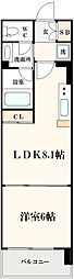 コンソラーレ土佐堀[708号室]の間取り